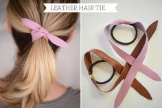 DIY Dress Makeover | Leather Hair Tie : What a great way to dress up a casual ponytail ...