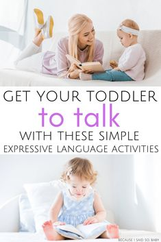 5 simple ways to improve your toddlers expressive language these speech language activities are perfect for 2 and 3 year olds who are learning how to talk get your toddler talking using these - The world's most private search engine Activities For 5 Year Olds, Toddler Learning Activities, Language Activities, Infant Activities, Speech Therapy Activities, Reading Activities, Fun Activities, Cognitive Activities, Kindergarten Reading