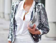 Live lusciously# touch of glamour# photography Sequin Blazer, Sequin Jacket, Glitter Jacket, Glitter Hair, Glitter Shoes, Look Fashion, Womens Fashion, Metal Fashion, Winter Fashion