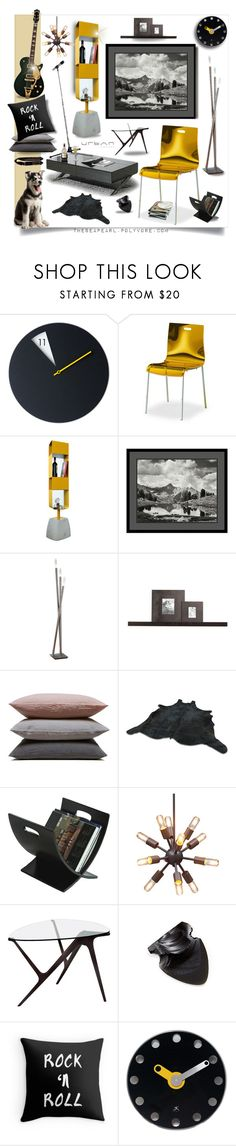 """""""He's a Little Bit Rock & Roll (His Guitar Room)"""" by theseapearl ❤ liked on Polyvore featuring interior, interiors, interior design, home, home decor, interior decorating, Domitalia, Amanti Art, Hearts Attic and WALL"""