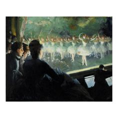 The White Ballet - Painting by Everett Shinn, a painter, illustrator, and muralist best known for his theatrical and urban subjects; associated with the group of artists known as the Ashcan School. (https://twitter.com/HawCreekShop/status/533447143248650240) (http://haw-creek.com/shop/the-white-ballet/)
