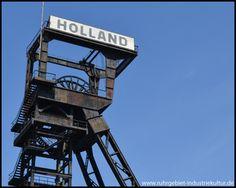 Förderturm der Zeche Holland
