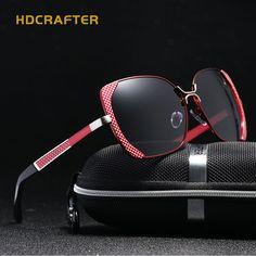 6a5a65e779 2018 New HDCRAFTER polarized sunglasses women brand designer Shades Female  butterfly sun glasses Oculos De Sol Feminino UV400