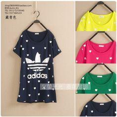 vivi2013夏季新款女装韩版满印爱心亮色荧光色三叶圆领短袖棉T恤-淘宝网