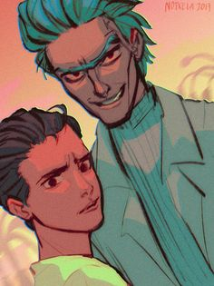 A retro style Rick and Morty poster hehe Rick And Morty Comic, Rick And Morty Poster, Rick Y Morty, Cartoon Characters As Humans, Rick And Morty Characters, Ricky And Morty, Rick And Morty Season, Fanart, Slash