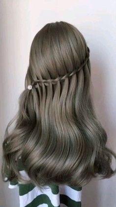 wedding Hairstyles easy Hairstyles Hairstyles for school party Hairstyles Hairstyles for round faces Romantic Hairstyles, Wedding Hairstyles, Cool Hairstyles, Hairstyles Videos, Bridal Hairstyle, Easy Braided Hairstyles, Fringe Hairstyle, Easy Hairstyles For Long Hair, Casual Hairstyles