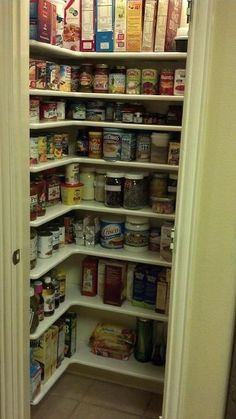 pantry remodel, cleaning tips, closet, kitchen cabinets, shelving ideas, woodworking projects, I can see everything We did add one more shelf up high a little later And the bottom shelf is about 8 inches from the floor so I can clean