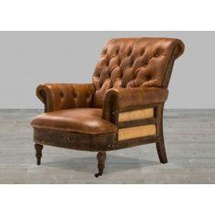 Brown Linen Travis Armchair #SilverCoastCompany
