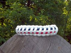 Red White and Blue Paracord Bracelet / buckle clasp .. Americana!!