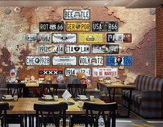 Rotten Wall With Plates Cars Art Wall Murals Wallpaper Decals Prints Decor IDCWP-JB-000817