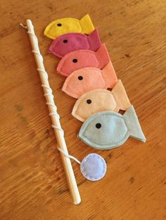 Toddler Educational Toys, Magnet Felt Fishing Game, Fishing Kids Game, Handmade Toys, Waldorf Toys,