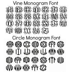 Empire monogram font download free