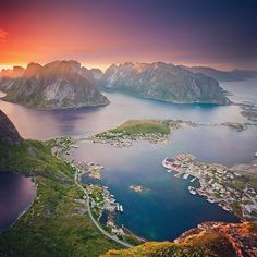 Travel Tuesday inspiration: Norway! There's Norway we'd pass up a trip to this beautiful country! Take yourself on a journey through thousands of kilometres of fjords - narrow waterways flowing from the ocean into rivers that wind through incredible cliffs and mountains peppered with quaint towns along the way. Consider putting a Norwegian fjord cruise on the top of your bucket lists for some unforgettable scenery. What do you think? #fjords #Norway #Norge #Oslo #scenery #cruise #landscape…