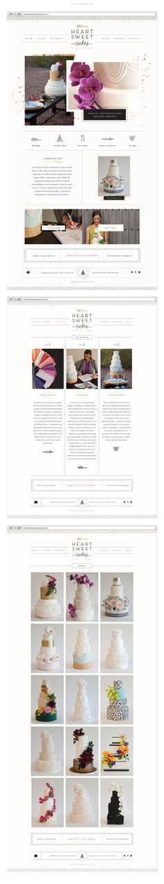 I've been looking forward to showing this one off for a few months and finally the day is here! Haley Cairns, owner and creative force behind Heartsweet Cakes, is a true dream client for me. Website Layout, Blog Website Design, Blog Designs, Website Ideas, Web Design Trends, Web Design Tips, Layout Design, Web Layout, Wireframe