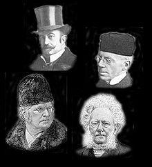 De fire store er et uttrykk som ble etablert av Gyldendal forlag til markedsføringen av dets fire forfattere Bjørnstjerne Bjørnson, Alexander Kielland, Jonas Lie og Henrik Ibsen, som i noen grad tilhørte samme generasjon og var toneangivende innen den realistiske litteraturen i Norge i 1860–1890-årene.