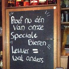 """""""Reclame voor een vies biertje ..."""" Ja, echt waar, er zijn Nederlandse moedertaalsprekers die de vorm 'es als samentrekking van EENS niet kennen. Zij spreken dan ook IS uit i.p.v. US. Logisch denken is er kennelijk niet meer bij. IS = een vorm van het werkwoord ZIJN (dit ten overvloede voor allen die nog twijfelen). Pffffffffffff"""