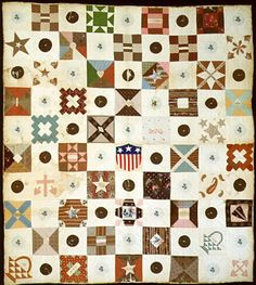 Album Quilt attributed to  Margaret English Wood Dodge  DAR Museum