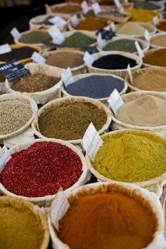 Spices market by CrokSushi on deviantART spices and herbs Nashville Farmers Market, Spice Containers, Istanbul, Spices And Herbs, Arabic Food, Fried Fish, Spice Mixes, Sugar And Spice, Spice Things Up