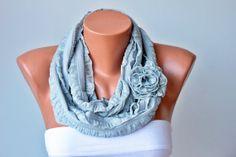Infinity scarfLoop scarf / neckwarmer woman scarf by SenasShop, $17.90