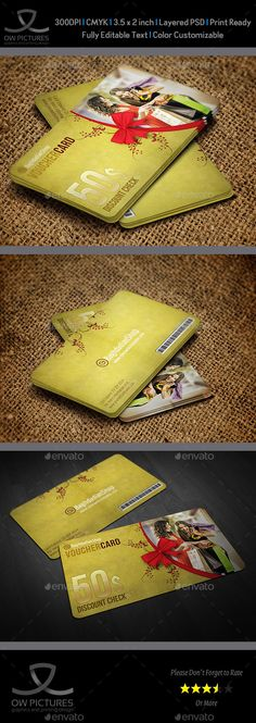 Gift Voucher Card Template Vol 20 - Cards & Invites Print Templates