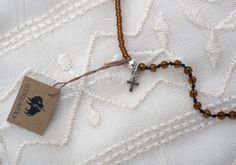 Brown Layering Neclace by ShopElectricBuffalo on Etsy