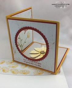Daisy Delight Corner Pop Up! by Stamps-n-lingers - Cards and Paper Crafts at Splitcoaststampers