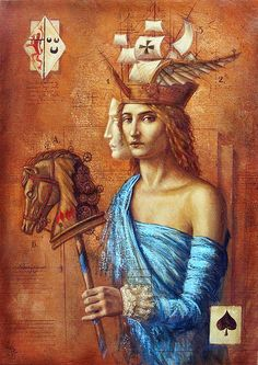 """Eve of Beltaine"" by Jake Baddeley- Beltane/Bealtaine/Bealltainn, is usually held on the 1st day of May, the traditional date for many of the major spring/summer festivals in modern Paganism. This magical fire festival, also called May Day, Walpurgis Night, etc., heralds the coming of summer and is a high holiday, a liminal time when the barriers between our world and the otherworld become thin. In many traditions and cultures it is a time of divine union and fertility."
