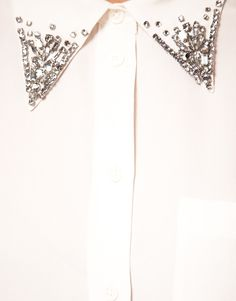 DIY inspiration: rhinestone embellished collar