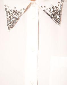 DIY inspiration: rhinestone embellished collar