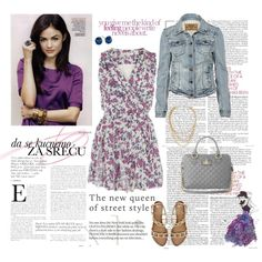 Purple Floral, created by cuteym on Polyvore