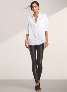 <p>Vegan leather that keeps its shape —and subtly sculpts yours</p>