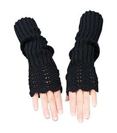 Novawo Knitted fingerless gloves