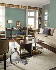 Looking To Add Upscale Style To Your Living Room? Color May Be Just What  You · Blue Paint ColorsWall ...