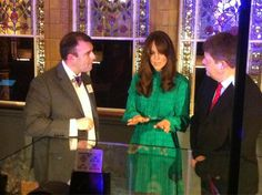 Kate elected to bring back another frock for today's opening of a new Gallery at the Natural History Museum. Kate joined other guests, museum officials and curators at this evening's event commemorating the new Treasures Gallery. Below we see Kate between Doctor Paul Barrett (left) and the Museum Director, Doctor Michael Dixon (right). The Gallery [...]