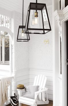 The Beacon Lighting Southampton 1 light traditional large alfresco exterior pendant in antique black with clear glass