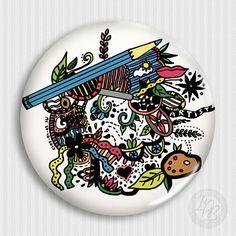 Magnetka Umělcův svět II by LaPetiteBohemienne Decorative Plates, Photoshop, Tableware, Handmade, Dinnerware, Hand Made, Tablewares, Dishes, Place Settings