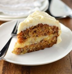 Carrot Cake with creamy pineapple filling and cream cheese frosting -  Friday_Cake_Night