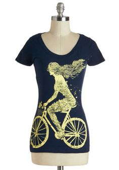 Wild Ride Tee. The carefree, nature-lovin gal pedaling atop this navy graphic tee may as well be you!