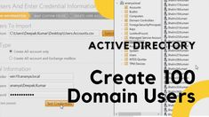 In this video I will show you how to create bulk users in active directory using solarwinds users import tool. I using csv file. Create By My Pc Support Active Directory, I Will Show You, Windows Server, Custom Map, Ads, Create