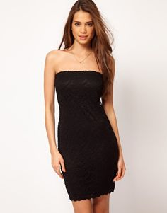 Enlarge ASOS Bandeau Dress in Lace