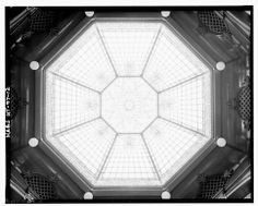 Stained glass dome - Keith-Brown House, 529 East South Temple, Salt Lake City.