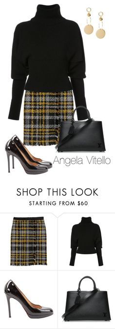 """Untitled #1050"" by angela-vitello on Polyvore featuring Creatures of the Wind, Christian Louboutin and Louis Vuitton"