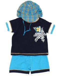 Das perfekte Outfit für kleine Surfer Boys. #KombiDerWoche der Marke #littlestar in Gr. 80