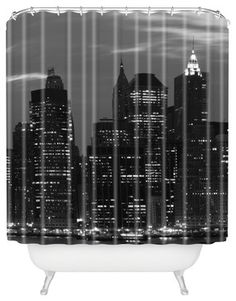 Leonidas Oxby New York Financial District Shower Curtain industrial-shower-curtains