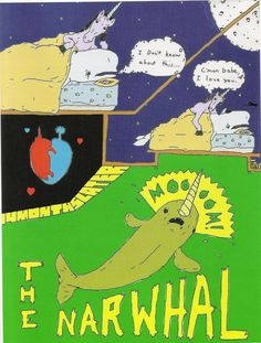 Birth of the Narwhal #cartoon #comicstrip