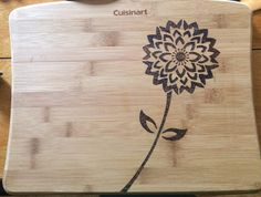 burned wood cutting board - can make yourself using cutting board and soldering iron