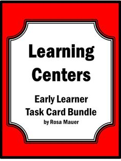 Learning Center activities are a great area to make use of task cards. By purchasing this task card bundle for your learning center or for other classroom activities, you will save more than 20% compared with buying each of the 16 sets individually. Basic concepts, reading, and writing are the focus of these task cards that may be used in your learning center. These task cards are for early learners.