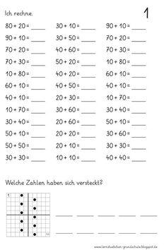 Lernstübchen: Übungsblätter für die Hausaufgaben 1st Grade Math Worksheets, First Grade Math, Preschool Worksheets, Math Activities, Teaching Kids, Kids Learning, Eureka Math, Kids Homework, Math Addition