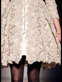 I need this handmade lace coat!