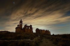 [Phantom town by David Martín Castán, via 500px]  ... bet there are some ghosts roaming around the moores...